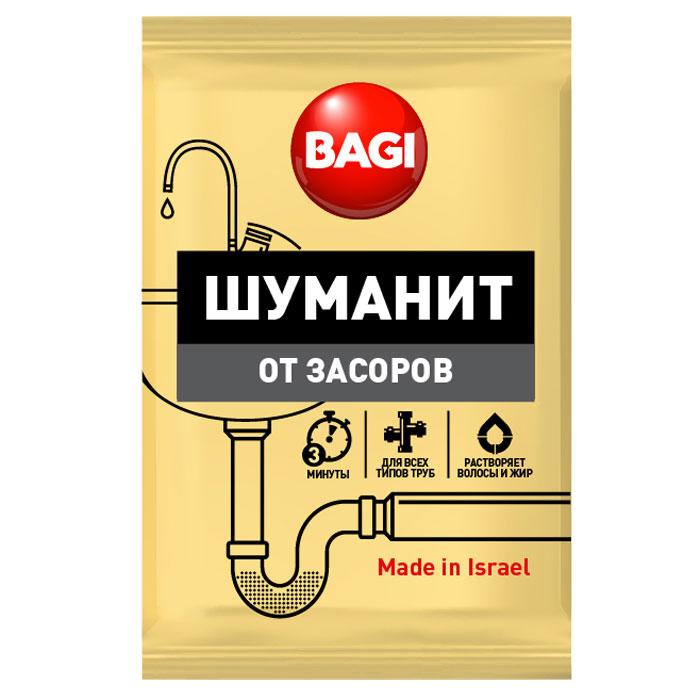 Средство для ванной и туалета Bagi Шуманит, от засоров, 70 г шампунь для всех типов моющих пылесосов bagi штихонит 3 л
