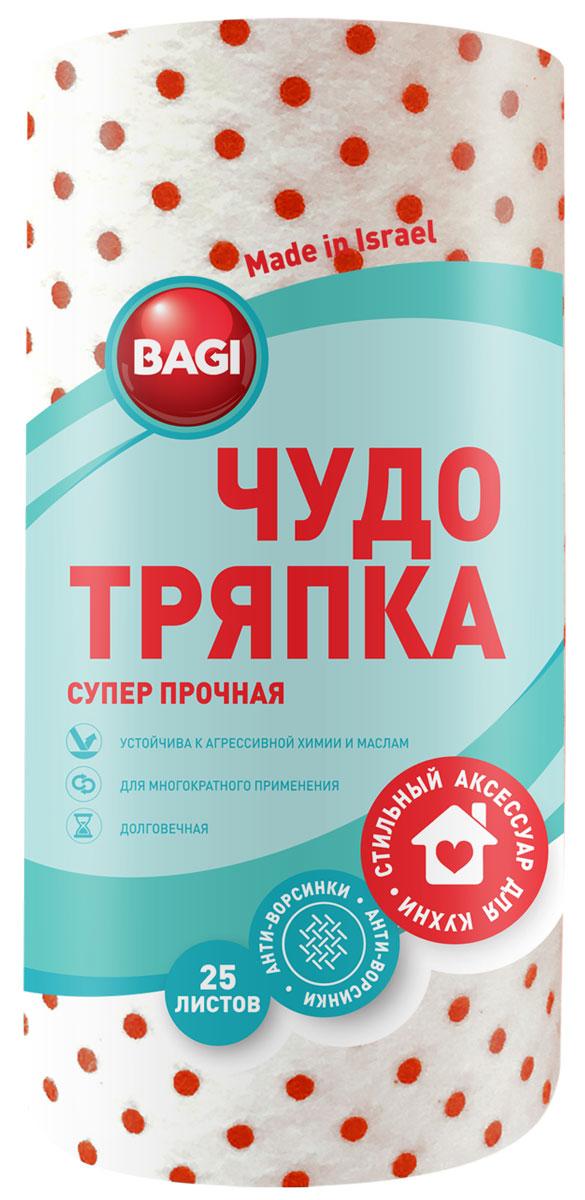 Чудо-тряпка Bagi, супер прочная, 20 х 20 смBG-C-208924-0Bagi чудо-тряпка суперпрочная, 20х20 см, 33 листа в рулоне