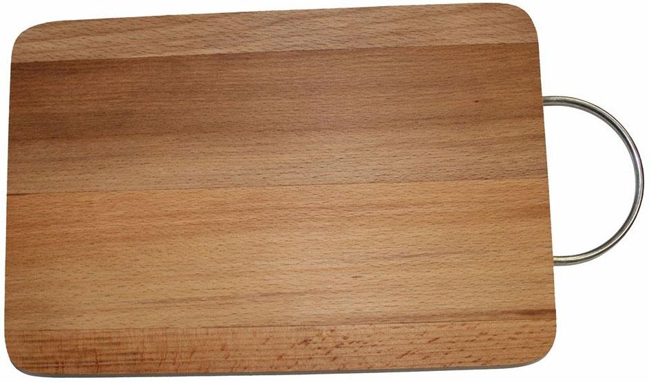 Доска разделочная Dommix, прямоугольная, с ручкой, 20 х 30 х 1,8 смMO11Прямоугольная разделочная доска с металлической ручкой Dommix изготовлена из бука в России.Прекрасно подходит для приготовления и сервировки пищи. Особенности разделочной доски Dommix:высокое качество шлифовки поверхности изделий, двухслойное покрытие пищевым лаком, безопасным для здоровья человека, степень влажности 8-10%, не трескается и не рассыхается, высокая плотность структуры древесины,устойчива к механическим воздействиям,не предназначена для мытья в посудомоечной машине.