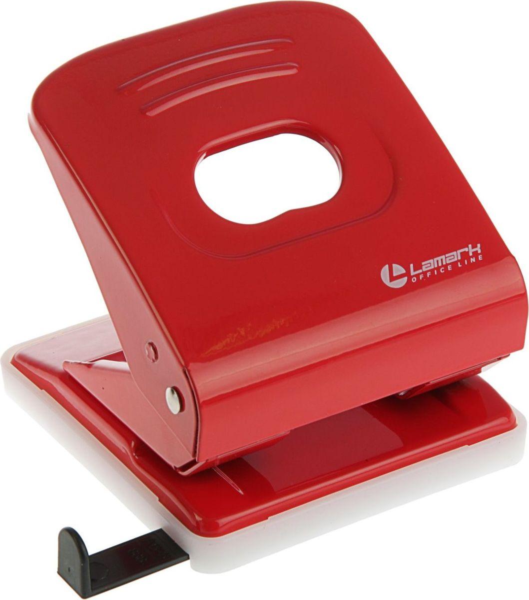Lamark Дырокол Mettallic с линейкой на 30 листов цвет красный2325212Удобный и практичный дырокол Lamark Mettallic- незаменимый офисный инструмент. Стильный эргономичный дизайн создаст приятное настроение на рабочем столе. Дырокол в надежном металлическом корпусе предназначен для одновременной перфорации до 30 листов бумаги. Удобство обеспечивает нескользящее основание и съемный резервуар для обрезков бумаги. Для выравнивания листов предусмотрена выдвижная линейка.