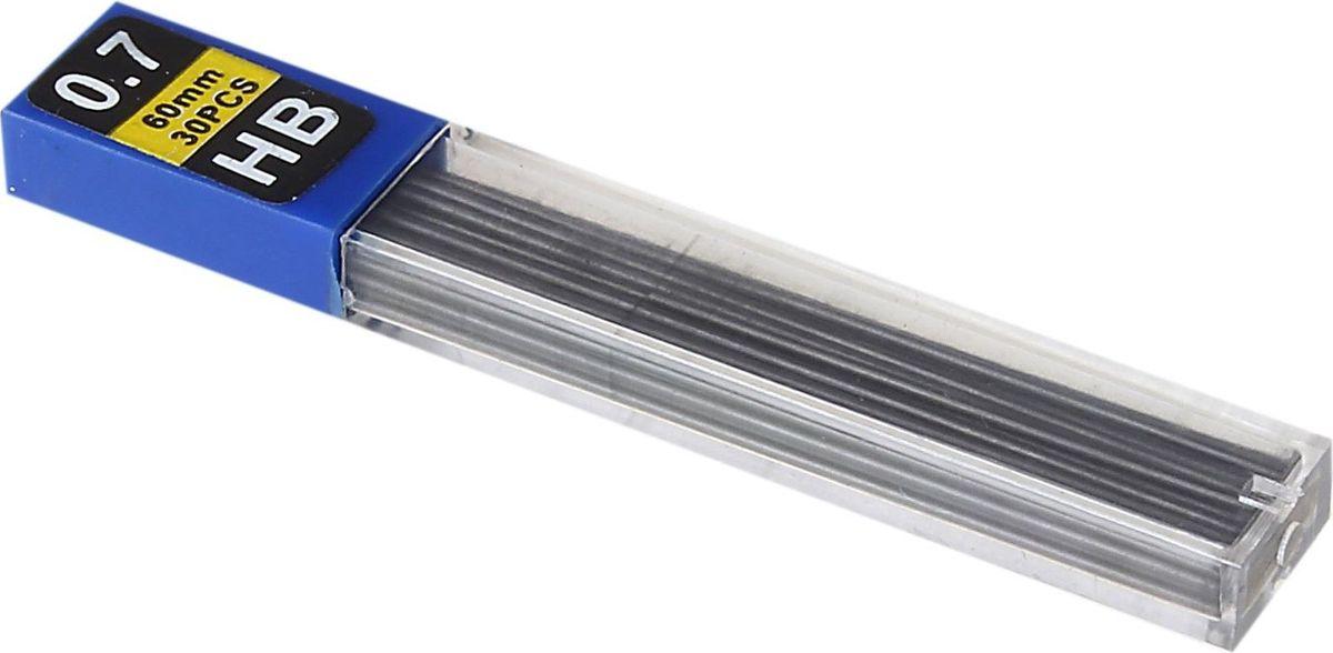 Грифель для механического карандаша 0,7 мм 30 шт539145Грифели для механических карандашей НВ (0,7 мм, 30 шт.) - востребованные предметы в удобной упаковке будут всегда под рукой в нужный момент.