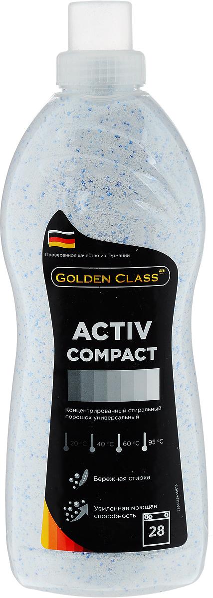 Стиральный порошок Golden Class Activ Compact, концентрированный, универсальный, 1,75 кг06102Стиральный порошок Golden Class Activ Compact предназначен для стирки изделий из хлопчатобумажных, льняных, синтетических, смесовых, белых и цветных тканей при температуре от 20 до 95°С. Для изделий из шерсти и натурального шелка используйте специальные моющие средства.Activ Compact - это порошок с пониженным пенообразованием, который специально разработан для стирки белья в автоматических стиральных машинах всех типов. Благодаря инновационной технологии порошок отлично удаляет даже самые сложные пятна. Гранулы пятновыводителя быстро растворяются в воде и начинают действовать на пятно уже в самом начале стирки. Специальные отбеливающие компоненты сделают ваше белье белоснежным.Особенности:- Защита структуры волокон ткани и препятствие появлению катышек. - Не содержит фосфатов. - Содержит вещества, препятствующие образованию накипи. - Придает белью приятный свежий аромат. - Предварительная стирка не требуется. Экономичность: 1 упаковка стирального порошка ACTIV COMPACT для стирки 150 кг сухого белья (на 28 стирок).Товар сертифицирован.