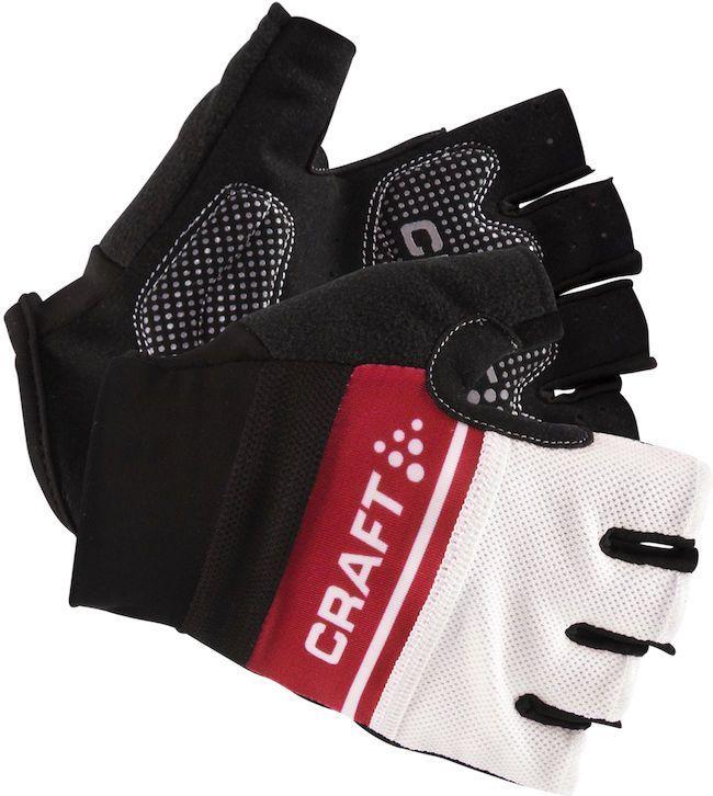 """Велоперчатки Craft """"Classic"""", цвет: черный, белый, красный. 1903304. Размер L (10)"""