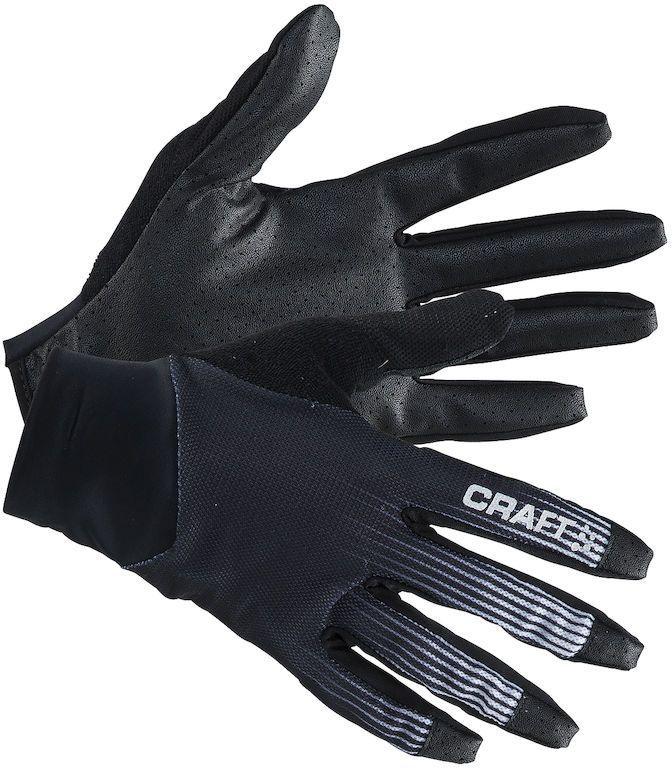 Велоперчатки Craft Route, цвет: черный, белый. 1904884. Размер L (10)1904884Перчатки Craft Route с полным покрытием пальцев, с прекрасной посадкой и силиконовым принтом для более оптимального захвата рукоятки.