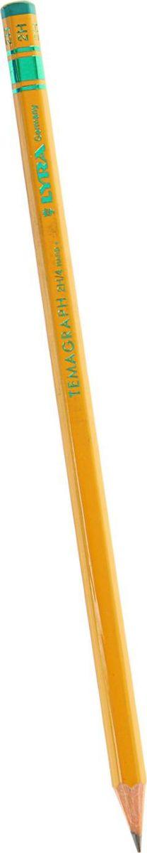 Lyra Карандаш чернографитный TemaGraph твердость 2H1850423Простые чернографитные карандаши - основа любого художественного начинания. Что бы вы ни делали - эскизы, рисунки, наброски - этот инструмент становится важнейшим и незаменимым помощником. Очень важно, чтобы грифель был качественным, не оставлял неряшливых и неопрятных следов, не пачкал руки и не ломался.