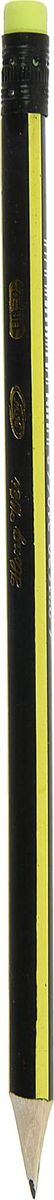 Карандаш чернографитный с ластиком цвет корпуса желтый черный цена 2017