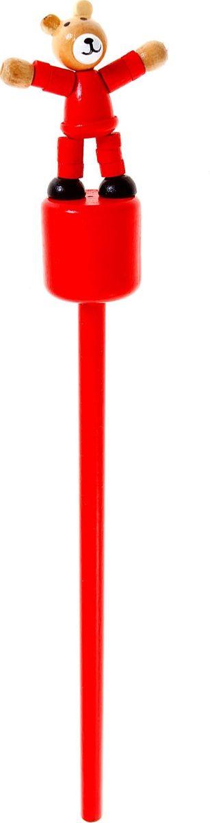 Карандаш Мишка860423Веселые яркие карандаши с игрушками станут для ребенка верными помощниками в процессе обучения рисованию. Наконечник выполнен в виде забавной зверушки-дергунчика. У игрушки двигаются части тела, что развивает у малыша мелкую моторику, тактильное восприятие и просто забавляет его. Карандаш изготовлен из безопасного материала — натуральной древесины, покрытой нетоксичными красками, поэтому безопасен для здоровья ребенка.