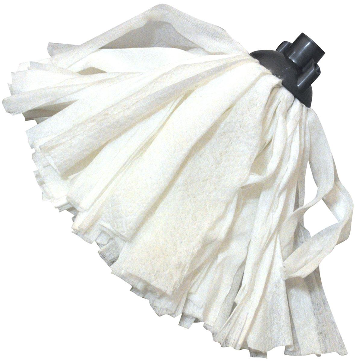 Насадка для швабры HomeQueen, цвет: белый. 5711057110Насадка для швабры HomeQueen выполнена из полиэстера, вискозы и полипропилена. Убирает без ворсинок, царапин и разводов. Изделие обладает сверхвпитываемостью, сохраняет свою структуру и форму даже после многократного использования. Такая насадка сделает уборку эффективнее и приятнее.