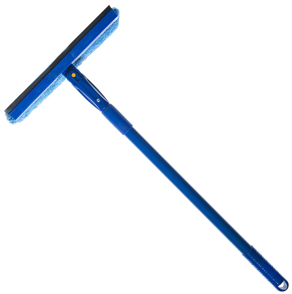 Стеклоочиститель HomeQueen, поворотный, с телескопической ручкой, цвет: синий70066Стеклоочиститель HomeQueen станет незаменимым помощником при уборке. Он стирает жидкость со стекла благодаря мягкой губке, а для полного вытирания имеется резиновая кромка. Стеклоочиститель имеет крепление к телескопической ручке.Ширина насадки: 25 cм.Длина ручки: 40-80 см.