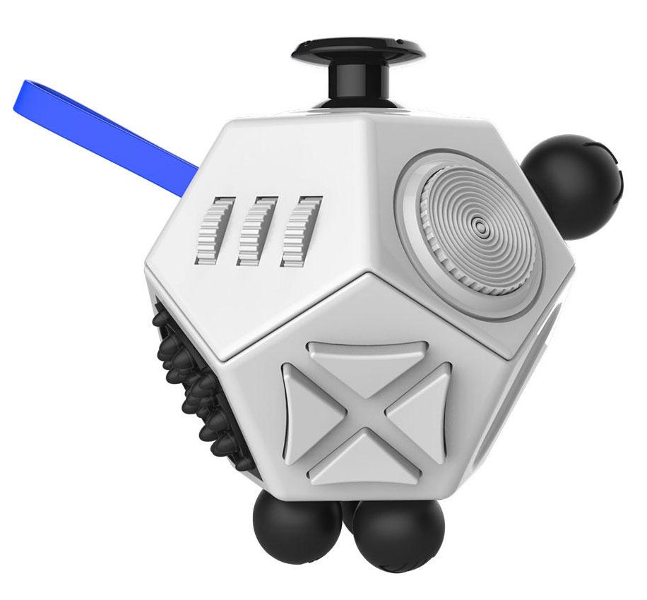 Fidget Cube 2.0 Игрушка-антистресс цвет белый черный - Развлекательные игрушки