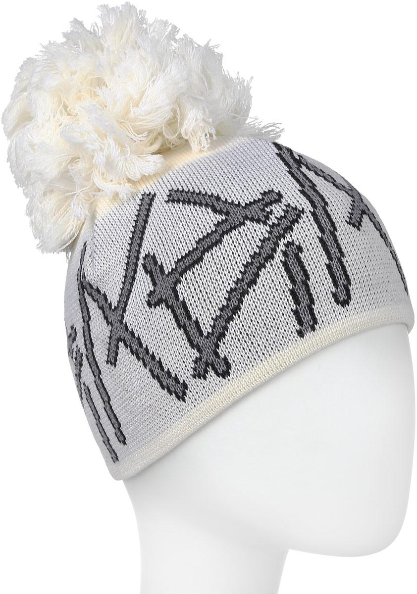 Шапка женская Husky Jovia, цвет: белый. 4261801200. Размер универсальный4261801200Шапка Husky Jovia выполнена из шерсти, подкладка из поликолона, - пропиленового волокна, которое не впитывает влагу и мгновенно выводит ее наружу. Шапка превосходно сохраняет тепло, она мягкая и идеально прилегает к голове. Материалы, из которых изготовлена шапка, не вызывают аллергии, обладают антибактериальными свойствами (предотвращают появление неприятного запаха). Шапка оформлена большим помпоном.