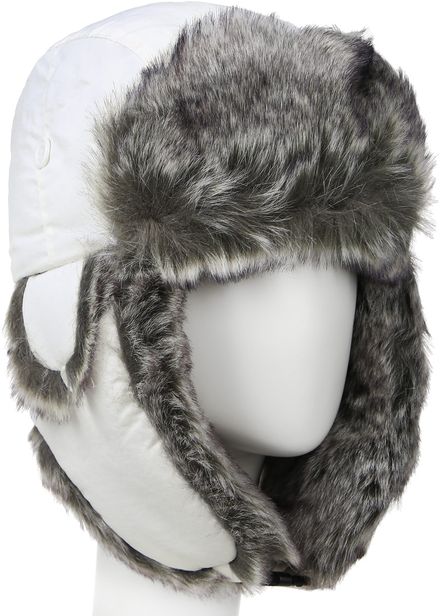 Шапка-ушанка жен. Mutka AXXON, цвет: белый. 2814G. Размер 58 шапки ушанки olle шапка ушанка