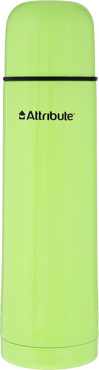 Термос Attribute Color, цвет: салатовый, 500 млAVF101_салатовыйТермос Attribute Color подходит для напитков и настоек травяных отваров. Внутренняя колба и корпус выполнены из высококачественной нержавеющей стали. Корпус покрыт защитным цветным лаком, что создает дополнительную защиту рук при использовании на морозе. Термос сохраняет напиток горячим до 10 часов, а холодным - до 16 часов. Вакуумная теплоизоляция между колбой и корпусом обеспечивает наилучшее сохранение тепла. Герметичная крышка снабжена теплоизоляционным материалом. Пробка со сливным клапаном позволяет наливать содержимое термоса, не откручивая ее. Таким образом, тепло сохраняется дольше. Изделие легкое и прочное, малый вес позволяет брать его с собой на работу и учебу, в поездки и походы. Диаметр горлышка: 4,5 см. Высота термоса: 24,5 см. Диаметр основания: 7 см.
