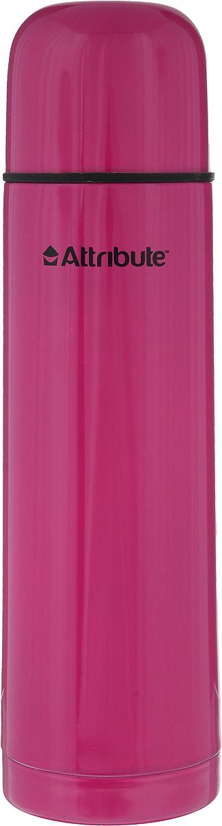 Термос Attribute Color, цвет: малиновый, 500 млAVF101_малиновыйТермос Attribute Color подходит для напитков и настоек травяных отваров. Внутренняя колба и корпус выполнены из высококачественной нержавеющей стали. Корпус покрыт защитным цветным лаком, что создает дополнительную защиту рук при использовании на морозе. Термос сохраняет напиток горячим до 10 часов, а холодным - до 16 часов. Вакуумная теплоизоляция между колбой и корпусом обеспечивает наилучшее сохранение тепла. Герметичная крышка снабжена теплоизоляционным материалом. Пробка со сливным клапаном позволяет наливать содержимое термоса, не откручивая ее. Таким образом, тепло сохраняется дольше. Изделие легкое и прочное, малый вес позволяет брать его с собой на работу и учебу, в поездки и походы. Диаметр горлышка: 4,5 см. Высота термоса: 24,5 см. Диаметр основания: 7 см.