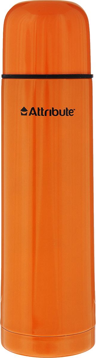 Термос Attribute Color, цвет: оранжевый, 500 млAVF101_оранжевыйТермос Attribute Color подходит для напитков и настоек травяных отваров. Внутренняя колба и корпус выполнены из высококачественной нержавеющей стали. Корпус покрыт защитным цветным лаком, что создает дополнительную защиту рук при использовании на морозе. Термос сохраняет напиток горячим до 10 часов, а холодным - до 16 часов. Вакуумная теплоизоляция между колбой и корпусом обеспечивает наилучшее сохранение тепла. Герметичная крышка снабжена теплоизоляционным материалом. Пробка со сливным клапаном позволяет наливать содержимое термоса, не откручивая ее. Таким образом, тепло сохраняется дольше. Изделие легкое и прочное, малый вес позволяет брать его с собой на работу и учебу, в поездки и походы. Диаметр горлышка: 4,5 см. Высота термоса: 24,5 см. Диаметр основания: 7 см.