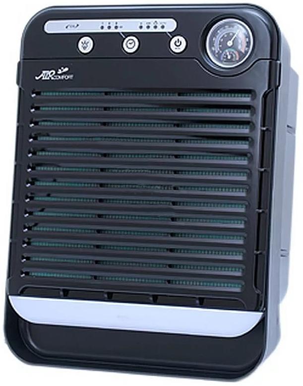AirComfort GH-2173 воздухоочиститель00000000077Настольный очиститель воздуха AirComfort GH-2173 с многоступенчатой системой очистки воздуха состоящей из современного сложного фильтра (фильтр предварительной очистки - HEPA - угольный фильтр - цеолит) + генератор отрицательных ионов. 4 уровня выбора скорости, в том числе режим АВТО. Таймер на 1/4/8 часов. Подсветка из 7 цветов. Мощный вентилятор обеспечивает подачу большого объема воздуха при бесшумной работе.