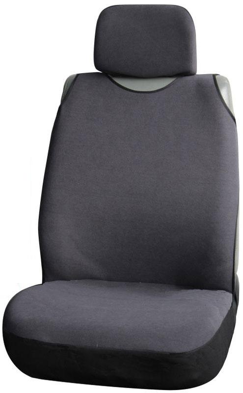 Чехол-майка на переднее сиденье Airline Сио, цвет: серыйASC-SS-11Чехол Airline Сио предназначен для переднего сиденья автомобиля и подходит для машин различных моделей и имеет универсальные размерные показатели. Форма майки полностью закрывает поверхность сиденья, предотвращая загрязнение обшивки. Чехол не препятствует раскрытию подушек безопасности.Размер: универсальный.