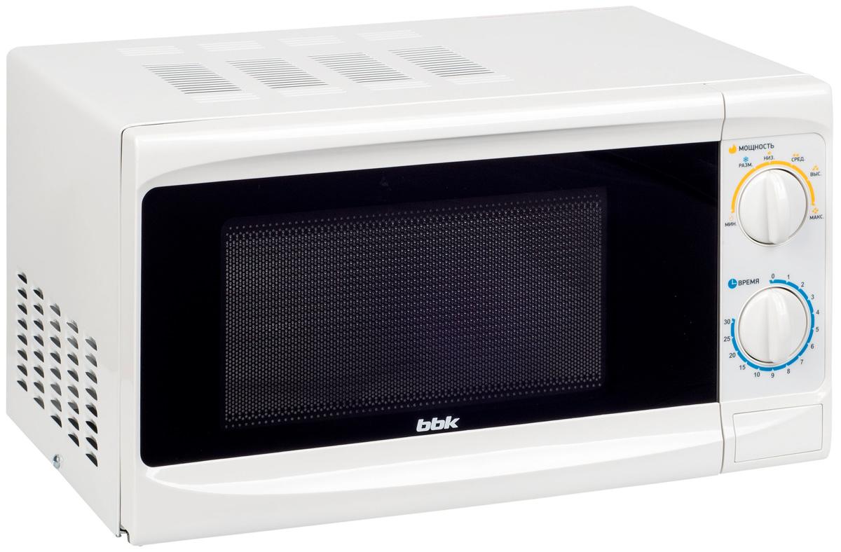 BBK 20MWS-703M/W микроволновая печь20MWS-703M/WМикроволновая печь 20MWS-703M/W - сочетание яркого, красочного дизайна, классического механического управления и самых необходимых функций. Вместительная камера емкостью 20 литров, таймер на 30 минут и 6 уровней мощности до 700 Вт позволяют свободно готовить разнообразные блюда, затрачивая на это минимальное количество времени и электроэнергии.