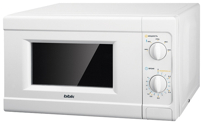 BBK 20MWS-705M/W микроволновая печь20MWS-705M/WМикроволновая печь BBK 20MWS-705M/W с механической панелью управления будет для вас незаменимым помощником на кухне. На панель выведены поворотные переключатели, что облегчает использование и управление СВЧ-печью. Данная модель оснащена 5-ю уровнями мощности излучения, что позволит быстро воплотить в жизнь любые кулинарные фантазии. Таймер времени рассчитан на 35 минут.Диаметр поддона: 25,4 см.