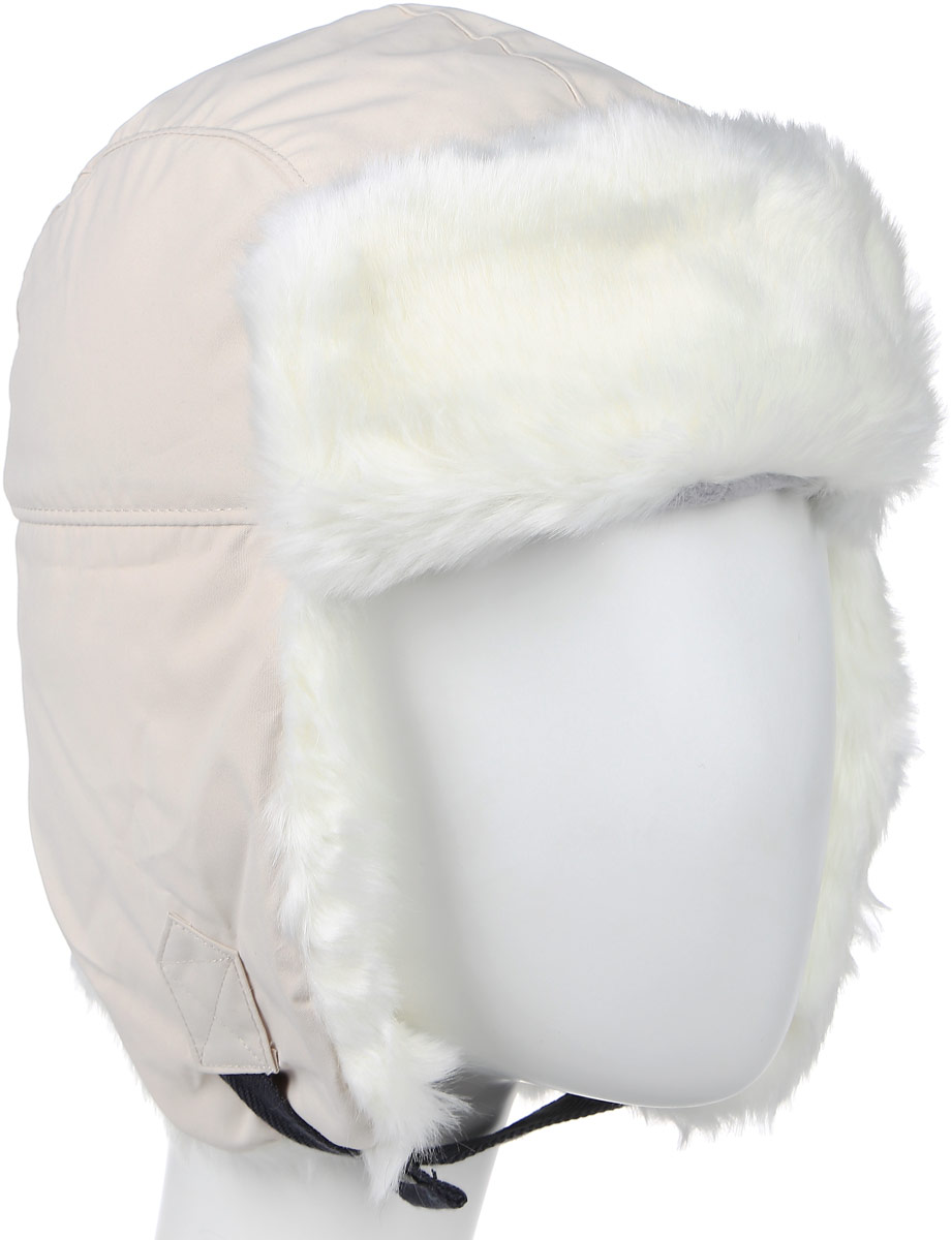 Шапка-ушанка Columbia Nobel Falls II Trapper, цвет: молочно-бежевый. 1626731-191. Размер S/M (56/57)1626731-191Теплая шапка-ушанка Columbia Nobel Falls II Trapper выполнена из высококачественного полиэфира с подкладкой из акрила с добавлением полиэфира. Дополнена шапочкатехнологией Omni-Shield, которая защищает от легкого дождя и пятен в любой ситуации. Модель оформлена хлястиками с кнопками-застежками на ушах. Они позволяют поднять ушки наверх или зафиксировать модель под подбородком. Дополнено изделие отделкой из искусственного меха. Уважаемые клиенты! Обращаем ваше внимание на тот факт, что размер, доступный для заказа, является обхватом головы.