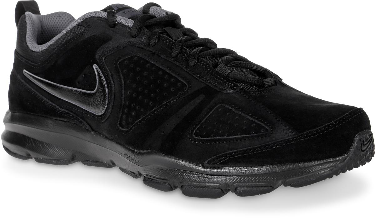 Кроссовки для фитнеса мужские Nike T-Lite XI NBK, цвет: черный. 616546-003. Размер 9,5 (43)616546-003Мужские кроссовки Nike T-Lite XI NBK предназначены как для занятий фитнесом, так и дляповседневной носки. Модель выполнена из комбинации натурального спилка и текстиля. Верх изделия дополнен перфорацией, что создает превосходную вентиляцию и комфорт в течении всего дня. Подъем оформлен классической шнуровкой, которая надежно фиксирует обувь на ноге и регулирует объем. Подкладка и стелька, идеально подстраивающаяся под анатомические контуры стопы, изготовлены из текстиля. По бокам кроссовки декорированы символикой бренда. Язычок дополнен текстильной нашивкой, а задник - ярлычком для более удобного обувания. Легкая промежуточная подошва выполнена из филона, протектор - из твердой резины. Бугорки Delta на протекторе подошвы обеспечивают превосходное сцепление с поверхностью.