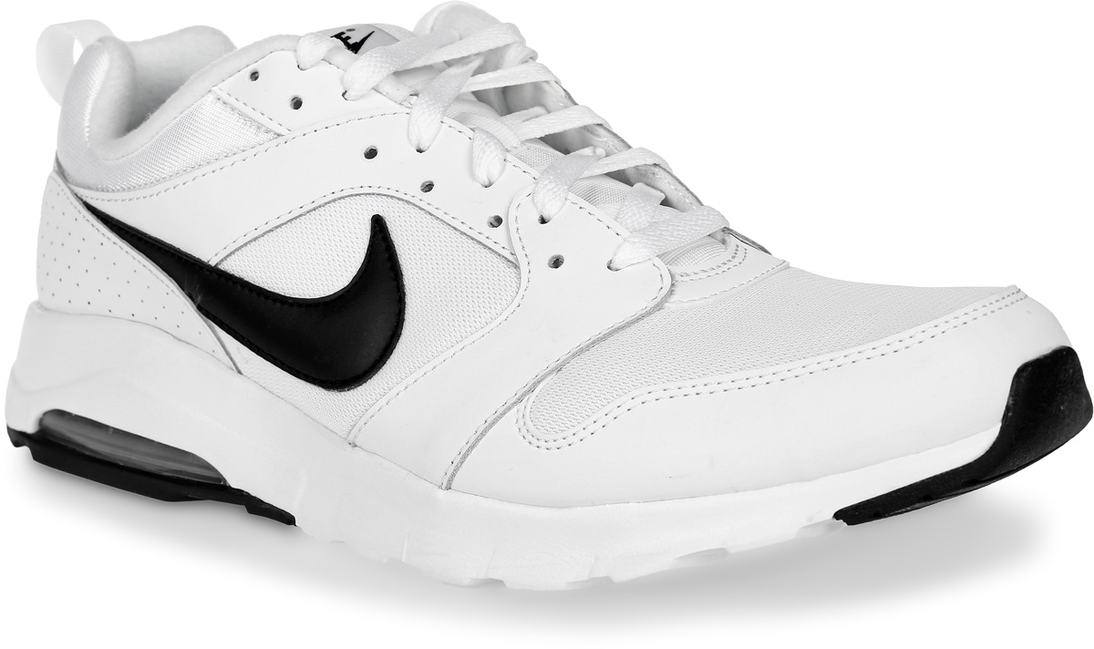 Кроссовки для бега мужские Nike Am 16, цвет: белый, черный. 819798-100. Размер 8,5 (41)819798-100Кроссовки для бега Am 16 от Nike выполнены из текстиля, натуральной и искусственной кожи. Подкладка и стелька из текстиля комфортны при движении. Шнуровка надежно зафиксирует модель на ноге. Подошва дополнена рифлением. Абсолютный комфорт и гибкость достигаются благодаря видимой вставке Max Air под пяткой и эластичными желобкам в средней части стопы.