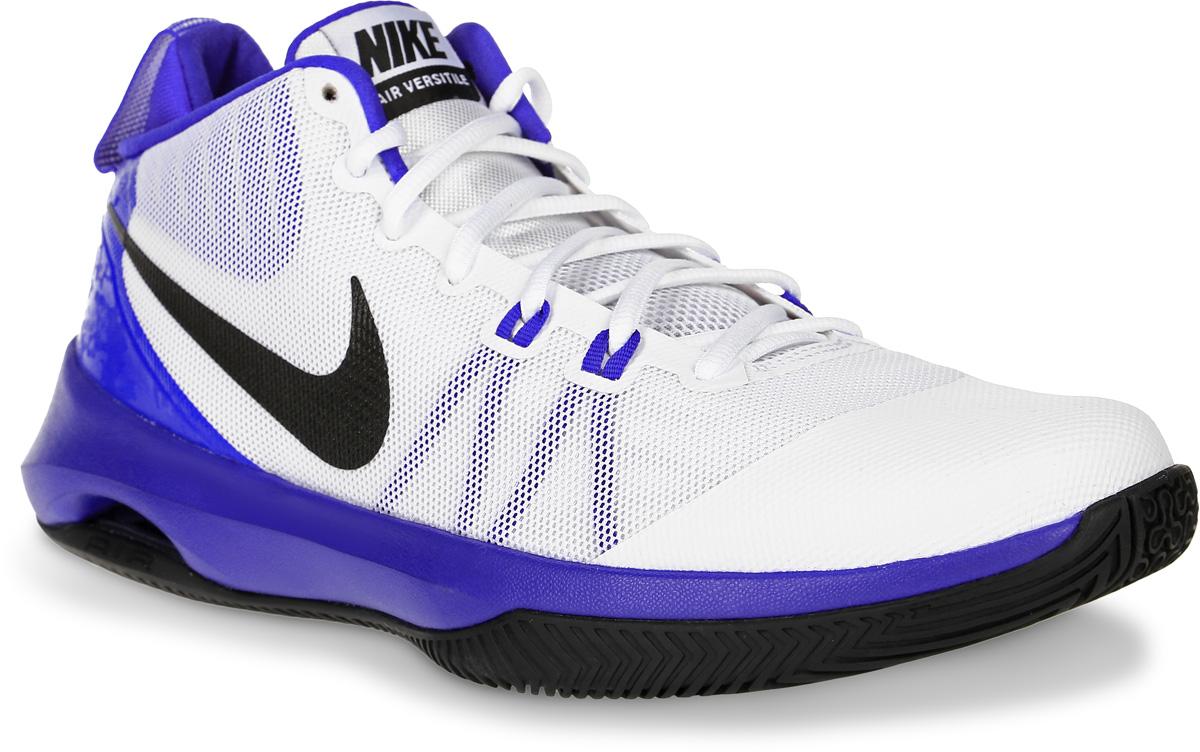 Кроссовки для баскетбола мужские Nike Air Versitile, цвет: белый, синий. 852431-101. Размер 9,5 (43)