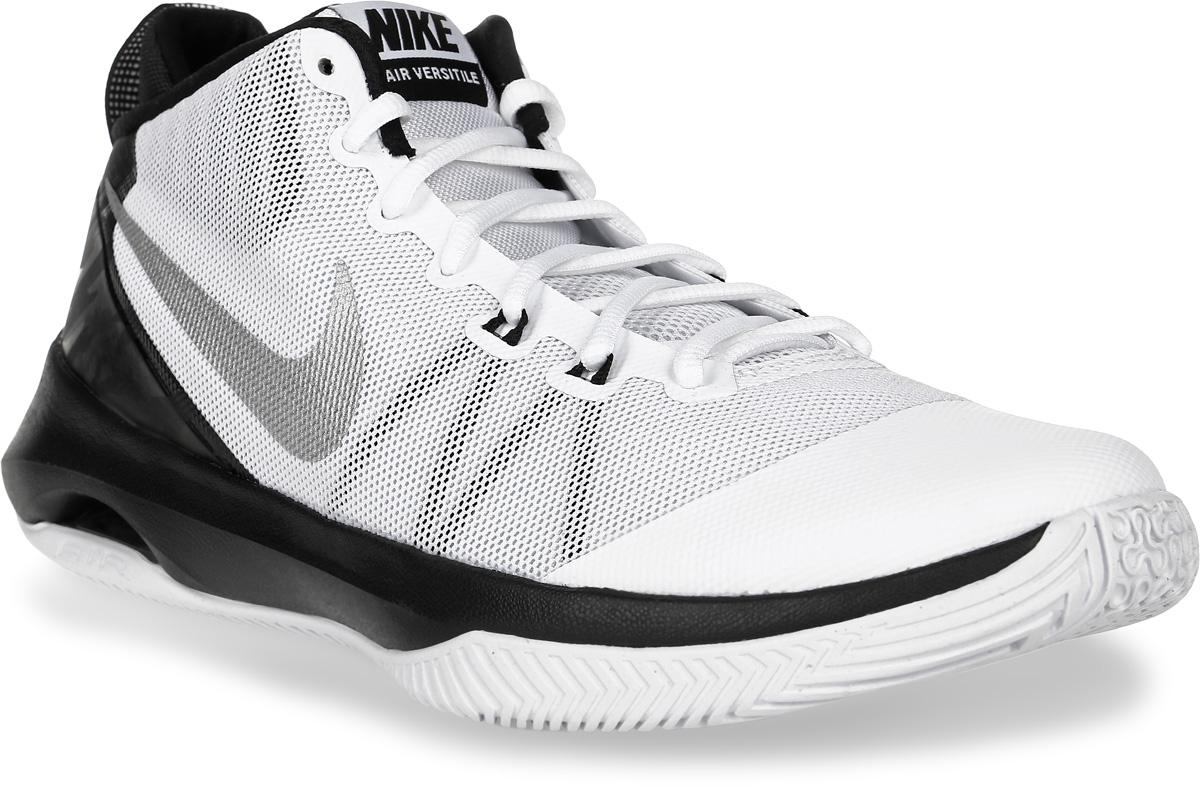 Кроссовки для баскетбола мужские Nike Air Versitile, цвет: белый, черный. 852431-100. Размер 13 (47,5)852431-100Кроссовки для баскетбола Air Versitile от Nike выполнены из легкого дышащего текстиля с поддерживающими полимерным накладками. Шнуровка надежно зафиксируют модель на ноге. Текстильная подкладка и стелька Solarsoft комфортны при движении. Воздушная подушка Max Air обеспечивает защиту от ударных нагрузок. Износостойкая подошва из материала Phylon для амортизации и надежного сцепления с поверхностью.