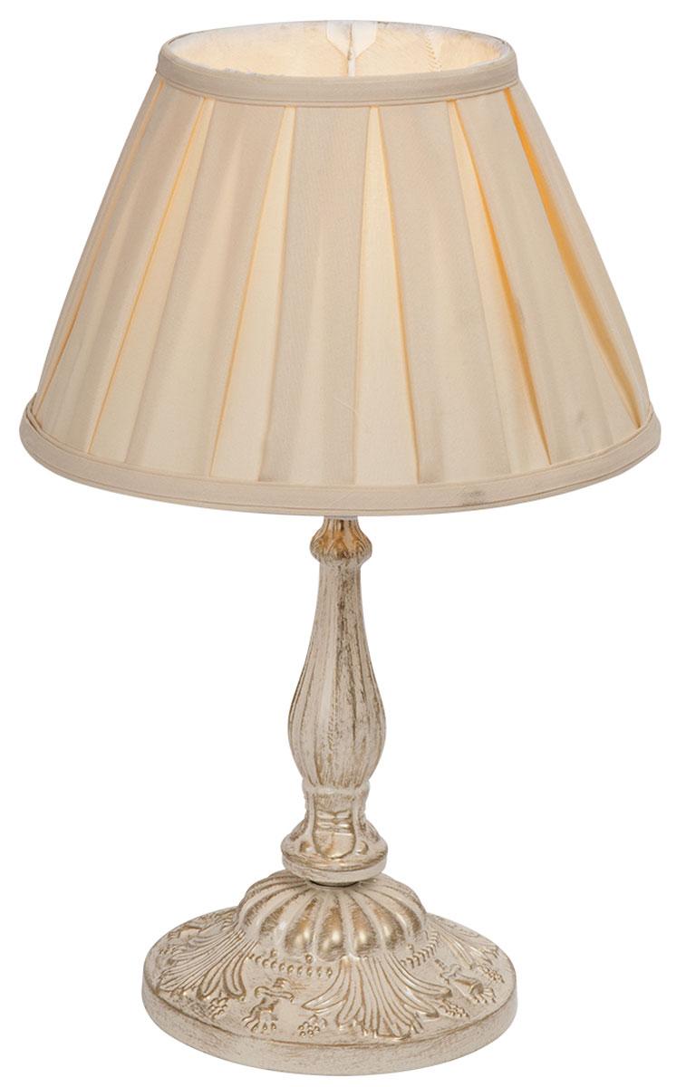 Светильник настольный Vitaluce, 1 х E27, 60 Вт. V1601/1LV1601/1LНастольный светильник Vitaluce, выполненный из высококачественных материалов, оформлен в классическом стиле. Изделие дополнит интерьер спальной комнаты или гостиной. К светильнику предусмотрен цоколь Е27 для лампы мощностью 60 Вт.