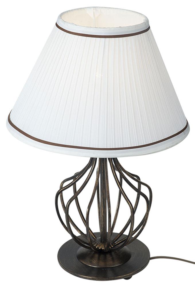 Светильник настольный Vitaluce, 1 х E27, 60W. V1626/1LV1626/1LНастольный светильник Vitaluce, выполненный из высококачественных материалов, оформлен в классическом стиле. Изделие дополнит интерьер спальной комнаты или гостиной. К светильнику предусмотрен цоколь Е27 для лампы мощностью 60 Вт.