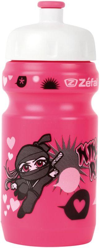 Фляга велосипедная Zefal Little Z - Ninja Girl, детская, цвет: черный, 350 мл zefal z light pack s