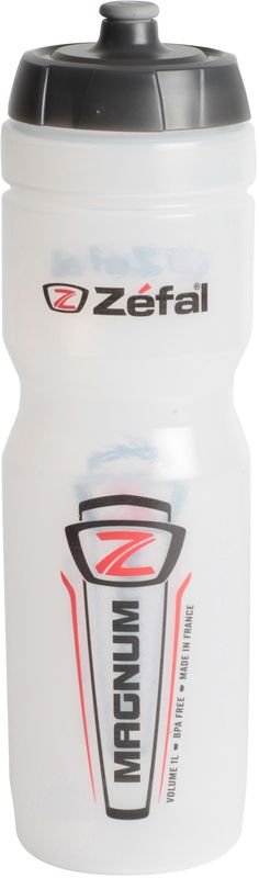 Фляга велосипедная Zefal Magnum, цвет: прозрачный, 1 л