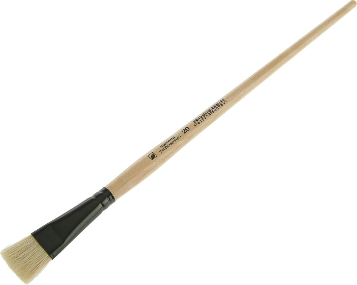 Альбатрос Кисть Хобби из нейлона укороченная плоская № 201195759Художественная кисть Хобби изготовлена из упругого синтетического волоса. Она имеет укороченную выставку щетинок и прекрасно подходит для плотных красок. Таким инструментом вам будет удобно делать короткие точные мазки. Имеет покрытую глянцевым лаком деревянную ручку и алюминиевую цельнотянутую обойму. Изделие поможет вам творить и вдохновит на создание новых шедевров!