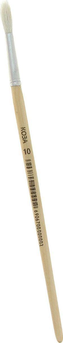 Кисть из волоса козы круглая № 10670000Художник - натура творческая и требовательная. Особенно это касается выбора инструментов для создания своих шедевров.Круглая кисть № 10 позволяет создавать на белом листе удивительные картины и образы. Она выполнена из волоса козы. Изделие имеет деревянную ручку и металлическую обойму.Инструмент поможет вам творить и вдохновит на создание новых шедевров!