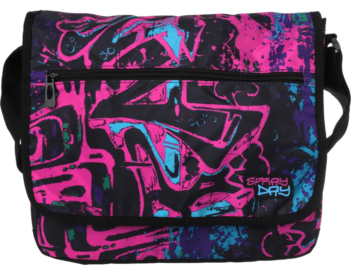 Walker Сумка школьная Fun Spray Day цвет фуксия42086/54Прочная и вместительная школьная сумка Fun Spray Day смотрится элегантно в любой ситуации.Сумка имеет одно отделение, которое закрывается на клапан с липучками. Внутри отделения находится открытый мягкий карман на хлястике с липучкой. Под клапаном с лицевой стороны расположен накладной карман на застежке-молнии, внутри которого находятся два открытых кармашка, карман-сетка на застежке-молнии и три кармашка для канцелярских принадлежностей. Лицевая сторона клапана дополнена большим врезным карманом на молнии.Широкая лямка с подвижным уплотнителем регулируется по длине. Такую сумку можно использовать для повседневных прогулок, учебы, отдыха и спорта, а также как элемент вашего имиджа. Лаконичный и сдержанный дизайн подчеркнет индивидуальность и порадует своей функциональностью.