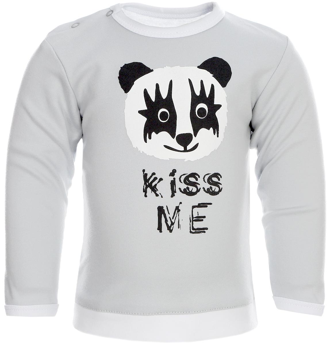 Джемпер для мальчика КотМарКот, цвет: серый, черный. 7921. Размер 92 футболка для мальчика котмаркот цвет серый 14946 размер 116 6 лет