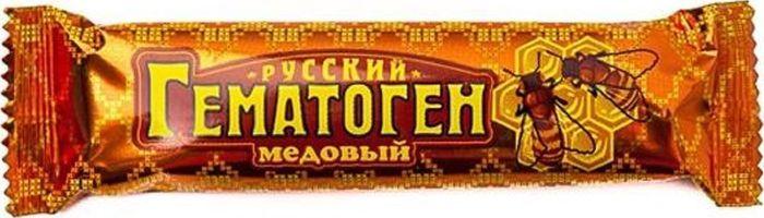 Гематоген Русский, медовый, 40 г28547БАД, общеукрепляющее, противоанемическое, дополнительный источник железа. Детям с 4 до 6 лет по 25 г в день. Детям с 7 лет по 30 г. Взрослым по 50 г в день во время еды. Сфера применения: витаминология, железо.
