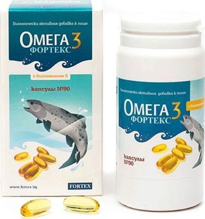 Омега 3 Фортекс, 90 капсул31532Омега 3 Фортекс улучшает работу сердечно-сосудистой системы.Витамин Е - антиоксидант, предупреждает образование перекисных соединений, повреждающих клеточные и субклеточные мембраны, что имеет важное значение для развития организма, нормальной функции нервной и мышечной систем. Действующие вещества, входящие в состав Омега 3 Фортекс являются средством профилактики сердечно-сосудистых заболеваний, способны снижать уровень в крови плохого холестерина и нормализовать кровяное давление. Благодаря этому уменьшается риск образования атеросклеротических бляшек, способных закупорить сосуды. Польза от применения данной группы веществ отмечается при остеохондрозах, артрозах и артритах, создает обезболивающий эффект. Жирные кислоты используются при различных заболеваниях кожных покровов, а токоферолы проявляют сильные нейропротекторные, антиоксидантные свойства. При регулярном применении витаминов моря восстанавливается подвижность суставов. Потребление полиненасыщенных жирных кислот способствует также нормальной мозговой деятельности, обеспечивает более быстрое поступление энергии, которая увеличивает скорость передачи импульсов между нервными клетками. Это улучшает память и позволяет быстрее думать.Таким образом, употребление в пищу достаточного количества полиненасыщенной жирной кислоты омега-3 способствует: - Уменьшению риска аритмий и повторных инфарктов.- Уменьшению обострений у больных, страдающих заболеваниями сердца и сосудов. - Улучшению психического состояния и выходу из депрессии. - Сохранению молодости и недопущению снижении умственных способностей. - Уменьшению риска возникновения болезни Альцгеймера. - Недопущению развития дегенерации сетчатки глаза. - Снижению риска развития ожирения печени и возникновения сахарного диабета. - Уменьшению потребности в гормональных препаратах при псориазе и ревматоидном артрите.- Способствует выведению из организма вредных веществ и связыванию свободных радикалов. Препарат подходит для диабетиков. 