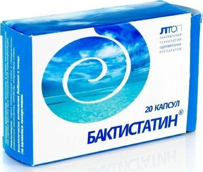 Бактистатин, 20 капсул х 0,5 г37543Бактистатин - уникальный запатентованный комплекс усиливающих действие друг друга природных компонентов: пробиотика, пребиотика и сорбента.Благодаря своему составу Бактистатин обладает дезинтоксикационными свойствами, иммуномодулирующим действием, способствует биоочистке, нормализации микрофлоры и восстановлению эндоэкологии кишечника.Пробиотический компонент в составе комплекса:- обеспечивает восстановление нормальной микрофлоры кишечника, - угнетает патогенные и условно-патогенные микроорганизмы, не влияя при этом на полезную микрофлору кишечника, - обладает иммуномодулирующим действием за счет стимуляции синтеза интерферона и активации защитных клеток - макрофагов, - способствует полноценному пищеварению.Природный сорбент - цеолит - в составе средства:- сорбирует и выводит шлаки, токсины и аллергены, не вступая при этом во взаимодействие с витаминами, аминокислотами, белками и другими полезными веществами, оставляя их в ЖКТ, - уменьшает различные виды интоксикации, в т.ч. при печеночной и почечной недостаточности, бактериальных пищевых отравлениях, - способствует нормализации всех видов обмена веществ: жирового, белкового и углеводного, - является источником широкого спектра необходимых микроэлементов, - улучшает процессы пищеварения, - нормализует перистальтику кишечника, уменьшает вздутие и спазмы,- повышает иммунитет, - улучшает функцию печеночных клеток,- стимулирует регенеративные процессы.Цеолит обеспечивает дозированное высвобождение, адресную доставку на всем протяжении кишечника и пролонгированное действие компонентов средства бактистатин благодаря постепенному высвобождению фиксированных на цеолите активных компонентов комплекса.Пребиотический компонент - гидролизат соевой муки - в составе комплекса:- обеспечивает максимально благоприятные условия для роста нормальной микрофлоры кишечника и восстановления микробного пейзажа организма, - является естественным источником полноценного белка и аминокислот.Товар не является