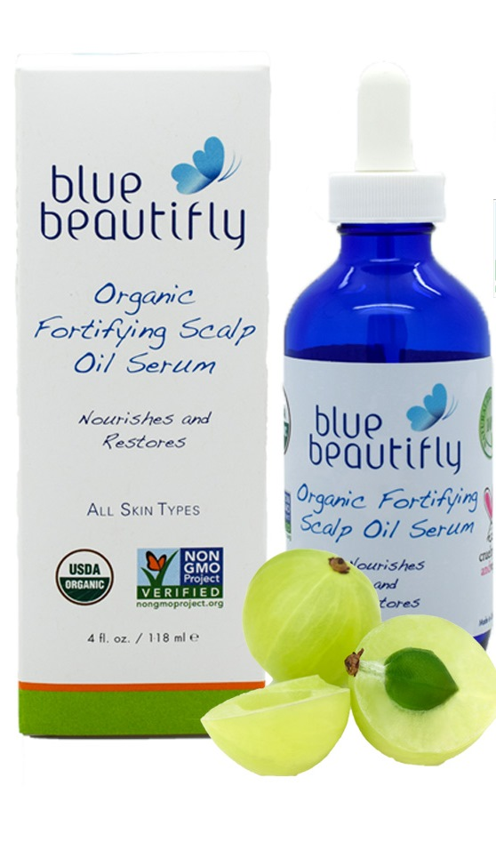 Blue Beautifly Органическая укрепляющая сыворотка для корней волос и кожи головы, 118 мл сыворотки blue beautifly сыворотка для лица с антиоксидантами