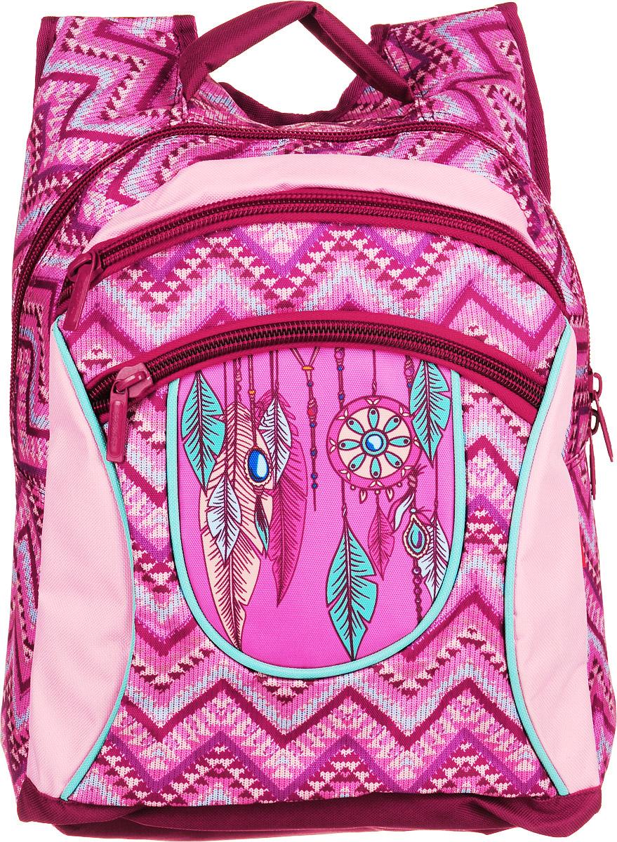 Hatber Рюкзак Basic Plus Ловушка для сновNRk_19082Рюкзак Hatber Basic Plus Ловушка для снов - это стильный молодежный рюкзак, отличающийся легкостью и вместительностью. Изделие выполнено из полиэстера и оформлено этническим принтом.Рюкзак имеет 2 вместительных отделения, закрывающихся на застежку-молнию. Внутри основного отделения расположен дополнительный карман. На лицевой стороне имеется карман на молнии. Текстильная ручка обеспечивает возможность переноски рюкзака в одной руке. Дно и спинка уплотнены. Широкие мягкие лямки в форме маечки гарантируют максимальный комфорт.