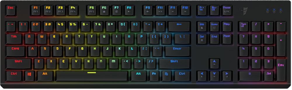 Tesoro Gram Spectrum (Kailh Blue), Black игровая клавиатураTS-G11SFLGram Spectrum — это механическая клавиатура, оборудованная фирменными механическими переключателями от Tesoro – AGILE.Новые переключатели имеют уменьшенную высоту и длину хода по сравнению с переключателями стандартного размера. Однако, при всем этом, инженерам компании удалось сохранить основные характеристики полноразмерных кнопок – тактильные ощущения, скорость и точность срабатывания.Клавиатура Gram Spectrum имеет полноцветную RGB подсветку.В данной клавиатуре установлены переключатели AGILE Kailh Blue - выбор казуальных игроков и любителей активного общения. Чрезвычайно ускоряют набор текста. Имеют громкий щелчок и четкую отдачу.Как выбрать игровую клавиатуру. Статья OZON Гид