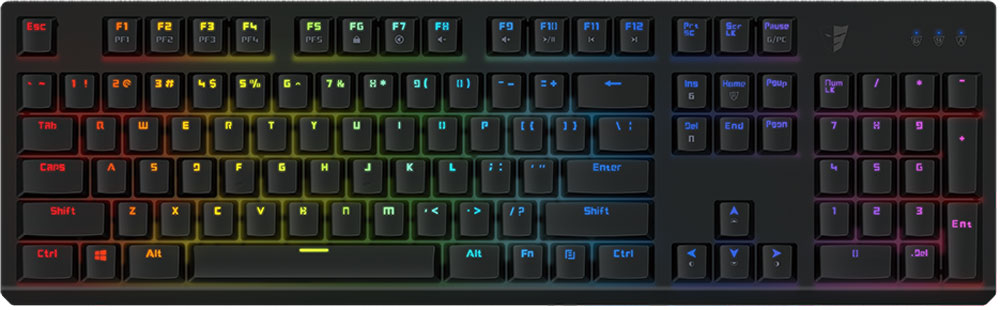 Tesoro Gram Spectrum (Kailh Blue), Black игровая клавиатура