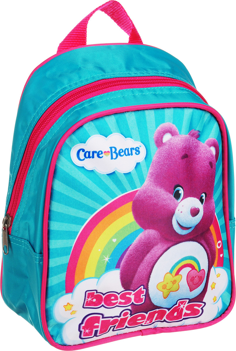 Care Bears Рюкзак дошкольный Best Friends 3173031730Легкий и компактный дошкольный рюкзачок Care Bears Best Friends - это красивый и удобный аксессуар для вашего ребенка.Рюкзак содержит одно отделение, закрывающееся на застежку-молнию. В этом отделении легко поместятся не только игрушки, но даже тетрадка или книжка. Благодаря регулируемым лямкам, рюкзачок подходит детям любого роста. Удобная ручка помогает носить аксессуар в руке или размещать на вешалке.Износостойкий материал с водонепроницаемой основой и подкладка обеспечивают изделию длительный срок службы и помогают держать вещи сухими в дождливую погоду. Аксессуар декорирован ярким принтом, устойчивым к истиранию и выгоранию на солнце.