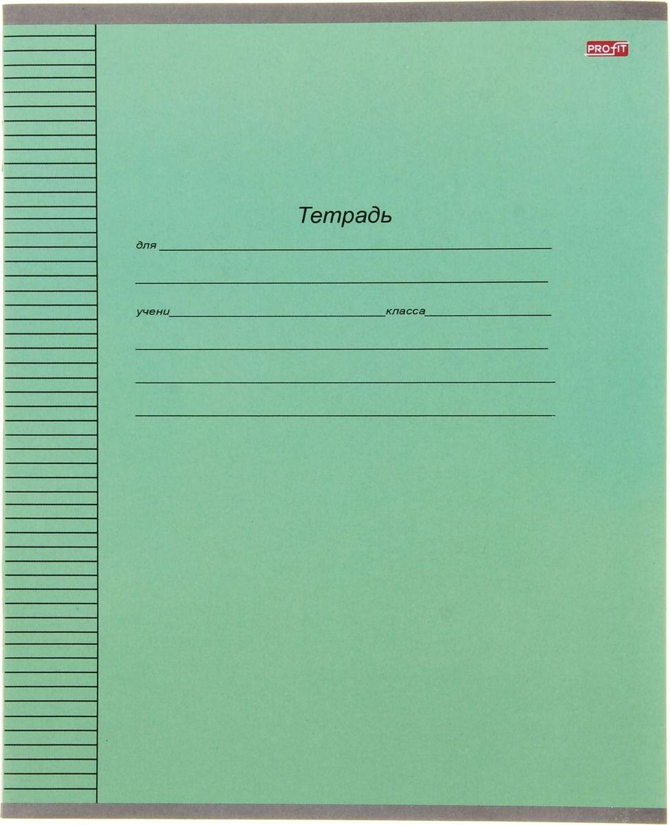 Profit Тетрадь Стандартная 12 листов в линейку цвет зеленый1005978Тетрадь Profit Стандартная идеально подойдет для занятий любому школьнику.Обложка, выполненная из картона зеленого цвета, сохранит тетрадь в аккуратном состоянии на протяжении всего времени использования. Внутренний блок состоит из 12 листов белой бумаги в голубую линейку с полями.Изделие отличается качеством внутреннего блока, который полностью соответствует нормам и необходимым параметрам для школьной продукции.Пусть ваш ребенок получает только хорошие оценки в любимых тетрадях с зеленой обложкой!