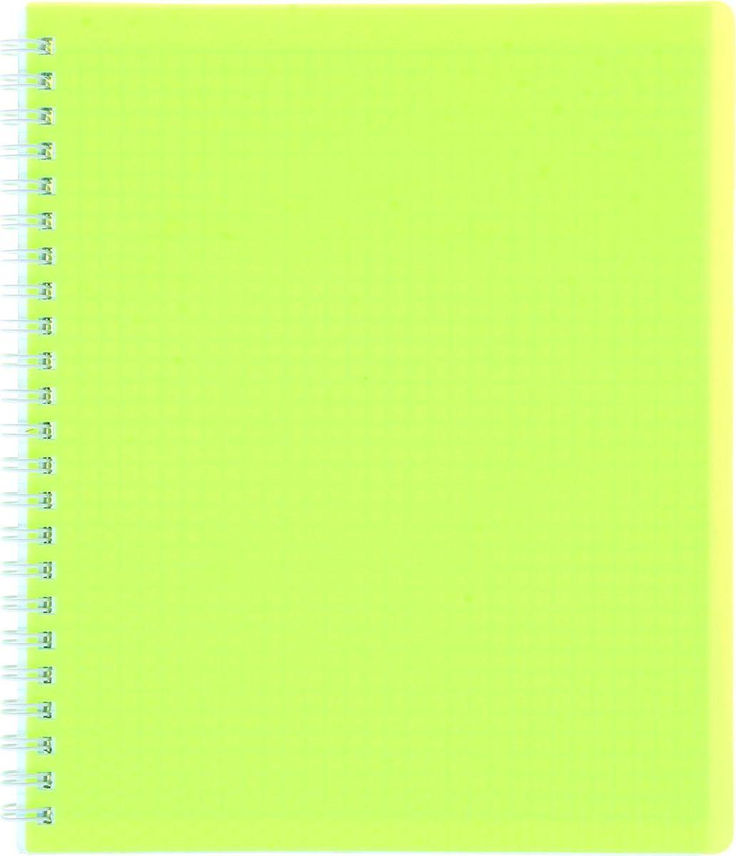 Hatber Тетрадь Diamond Neon 80 листов в клетку цвет желтый неон1020842Тетрадь Hatber Diamond Neon в яркой обложке подойдет как студенту, так и школьнику. Обложка тетради с закругленными углами выполнена из пластика. Внутренний блок состоит из 80 листов белой бумаги. Стандартная линовка в клетку без полей. Способ крепления листов - гребень.