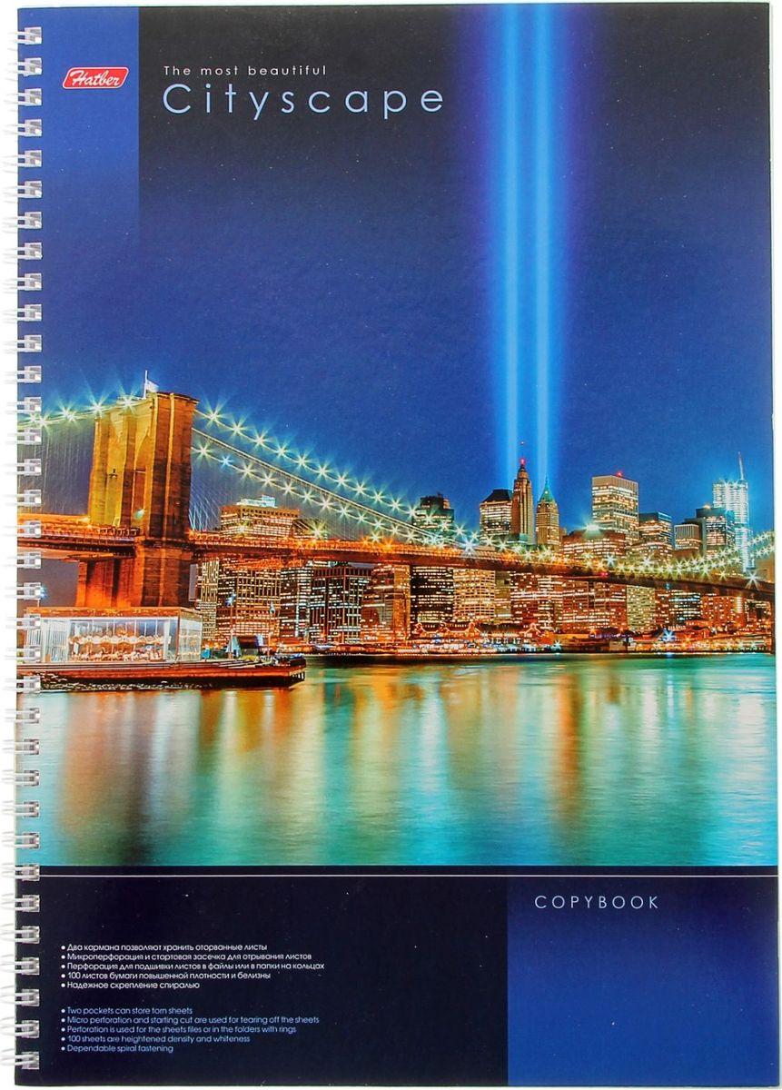 Hatber Тетрадь CityScape 100 листов в клетку1050992