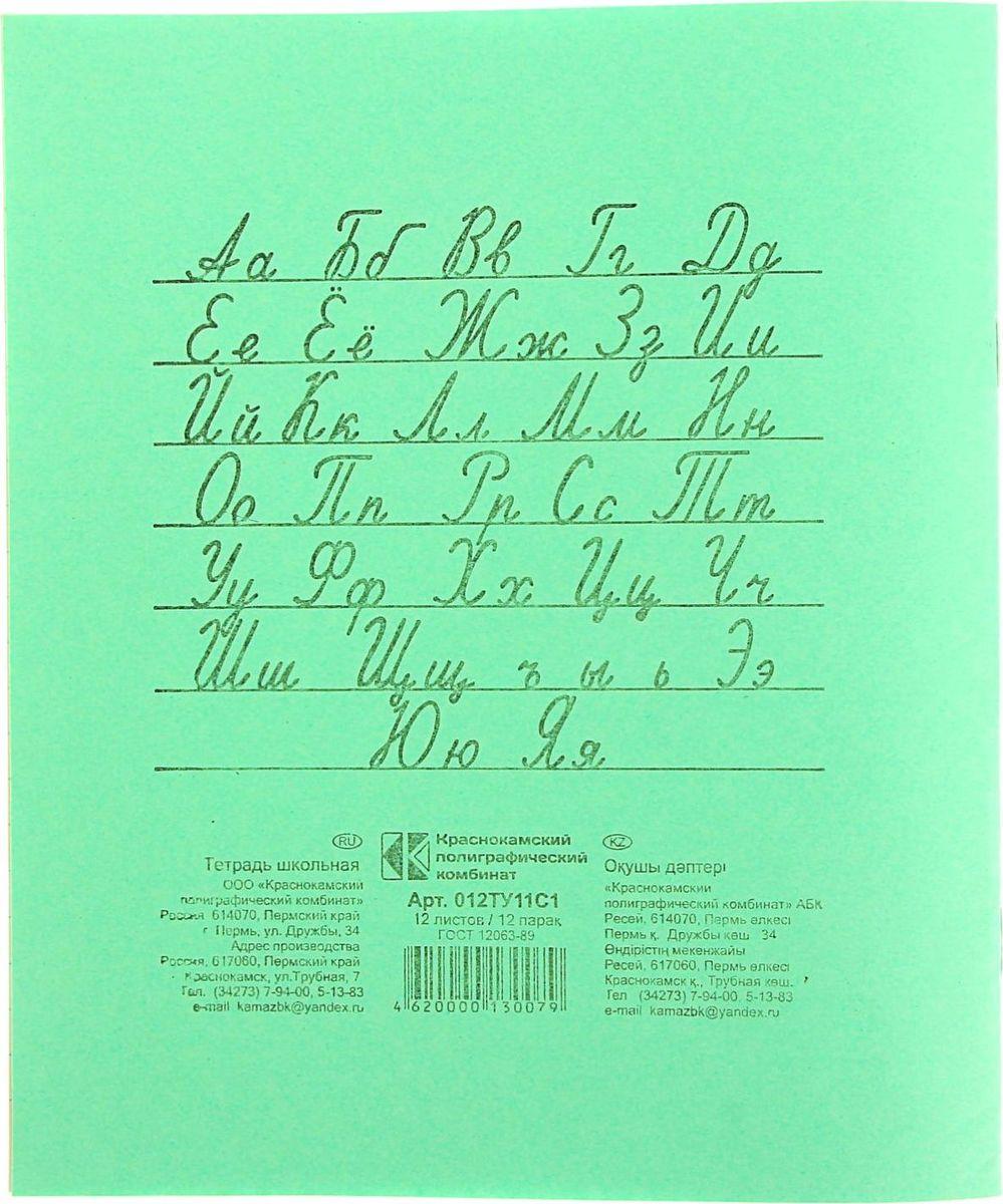 КПК Тетрадь 12 листов в линейку цвет зеленый 1176928