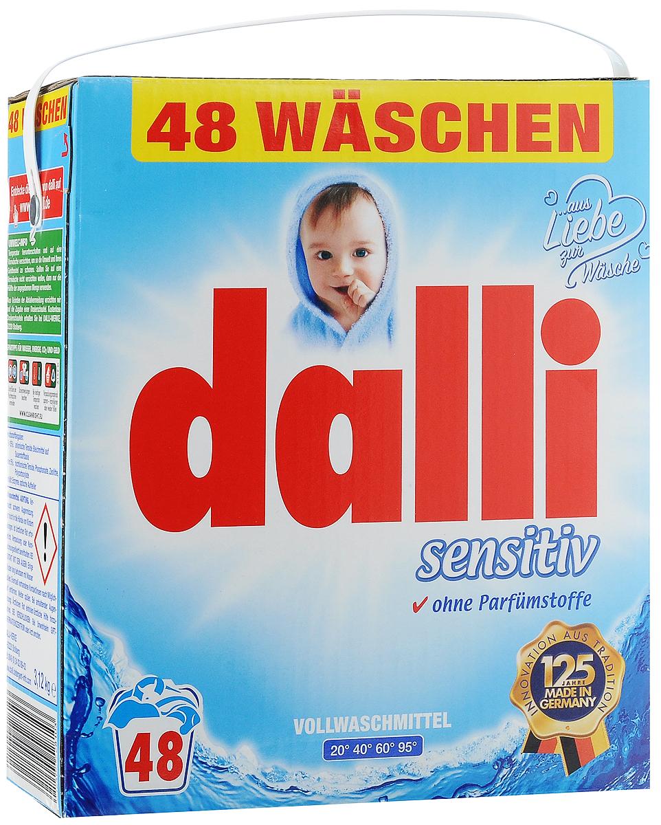 Стиральный порошок Dalli Sensitiv, с антиаллергенным составом, 3,12 кг528103Стиральный порошок Dalli Sensitiv специально разработан для ухода за бельем и одеждой детей и людей с чувствительной кожей. Имеет антиаллергенный состав. Разработан совместно с немецким союзом аллергиков и астматиков и проверен дерматологически. Порошок с новой формулой и ОХI эффектом для глубокой очистки волокон превосходно удаляет даже трудновыводимые и застарелые загрязнения. Передовая рецептура с водорастворимыми гранулами препятствует образованию остатка стирального порошка на белье и одежде, при этом великолепно отстирывая всевозможные загрязнения и пятна. Идеальная чистота и свежесть белья достигается уже при 20°С, что позволяет экономить энергию. Белье и одежда снова становятся чистыми и ухоженными. Порошок подходит для ручной и машинной стирки белого и цветного белья из хлопка, льна, искусственных волокон. Не рекомендуется для стирки изделий из шерсти и шелка. Не содержит фосфатов, ароматизаторов и красителей. Одна упаковка рассчитана на 48 стирок. Товар сертифицирован.
