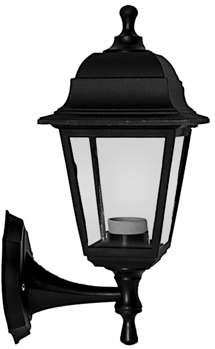 Светильник садовый Duwi Basis, цвет: черный, 380 мм. 24135 50L-00000639Светильник настенного крепления серии Basis Отличительная особенность - возможность крепления двумя способами: бра вверх и бра вниз. Корпус светильника изготовлен из ударопрочного пластика. Стекло прозрачное без рисунка. Basis - самая экономичная серия светильников - идеальное решение для дачи.